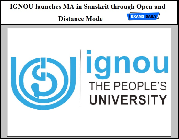 IGNOU launches MA in Sanskrit through Open and Distance Mode