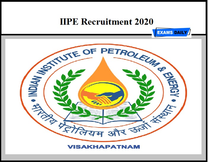 IIPE Recruitment 2020