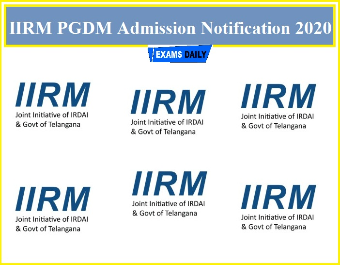 IIRM PGDM Admission Notification 2020