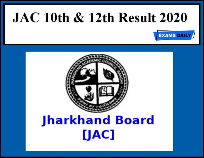 JAC 10th & 12th Result 2020