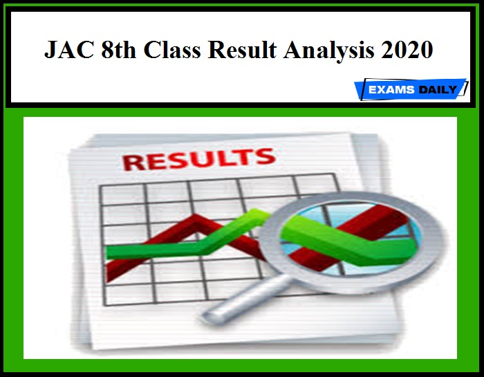 JAC 8th Class Result Analysis 2020
