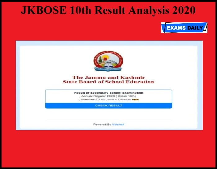 JKBOSE 10th Result Analysis 2020 OUT