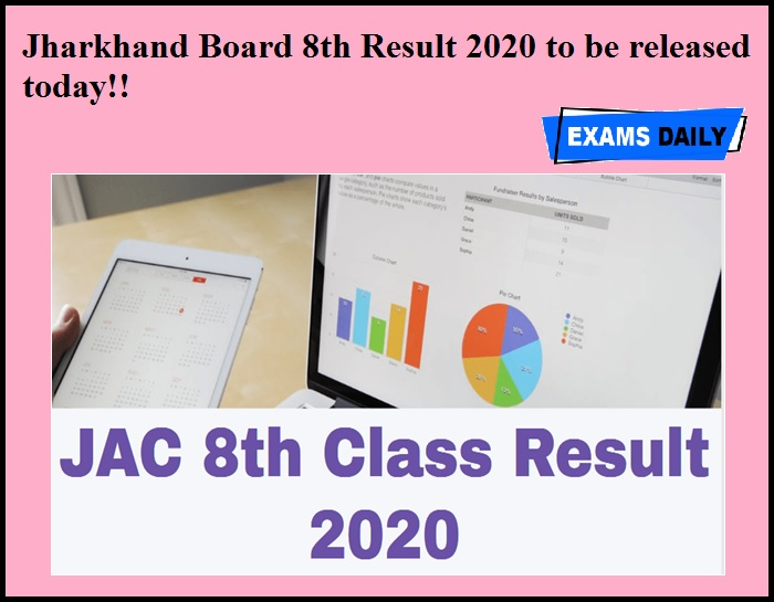 Jharkhand Board 8th Result 2020 to be released today!!