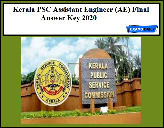 Kerala PSC Assistant Engineer (AE) Final Answer Key 2020