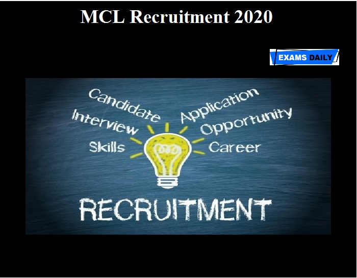 MCL Recruitment 2020 OUT