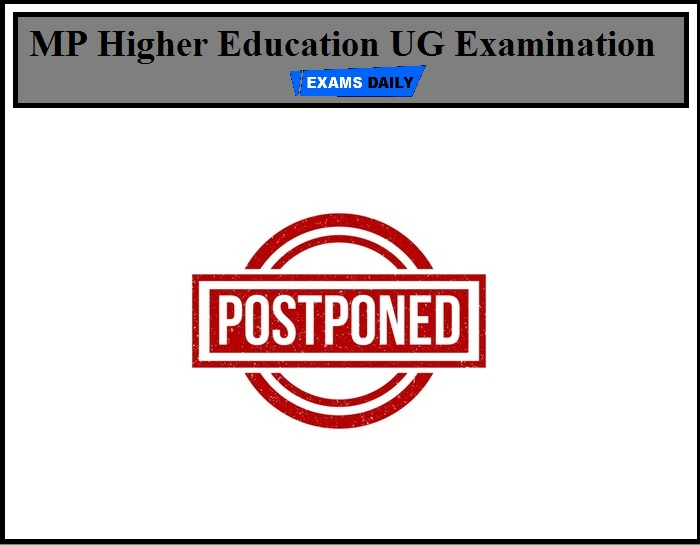 MP Higher Education UG Examination 2020