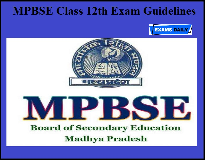 MPBSE Class 12th Exam Guidelines