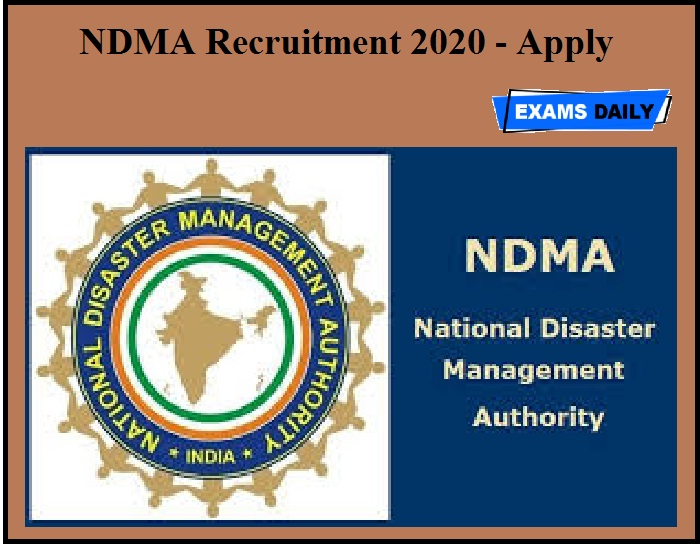 NDMA Recruitment 2020 OUT - Apply
