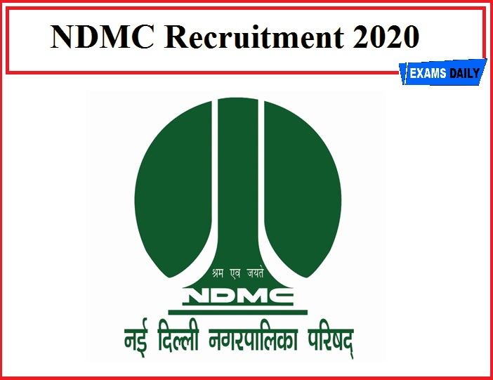 NDMC Recruitment 2020(Out) – Download Application for Consultant Vacancy!!!