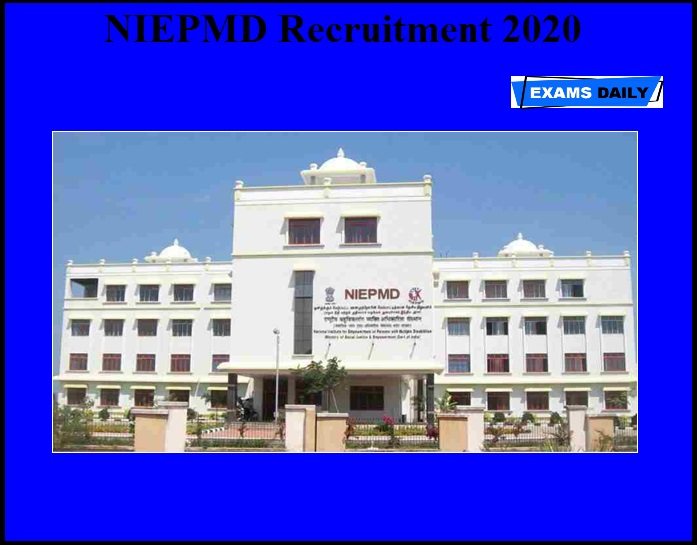 NIEPMD Recruitment 2020 OUT