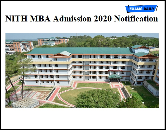 NITH MBA Admission 2020 Notification OUT