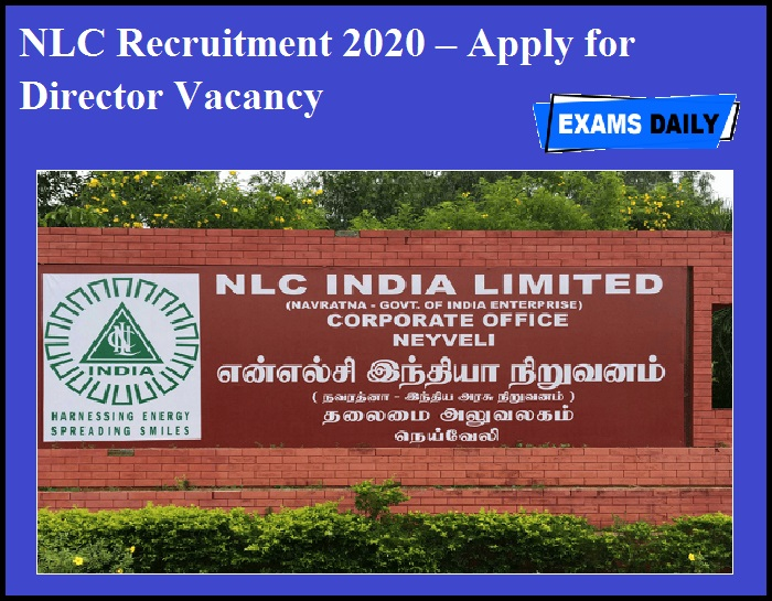 NLC Recruitment 2020 OUT – Apply for Director Vacancy
