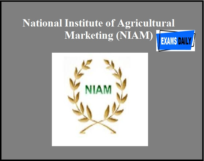 National Institute of Agricultural Marketing (NIAM)