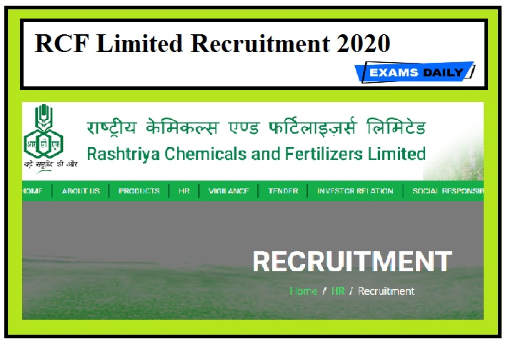 RCF Limited Recruitment 2020 Out – Apply MT & Others