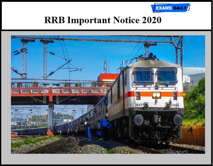 RRB Important Notice 2020