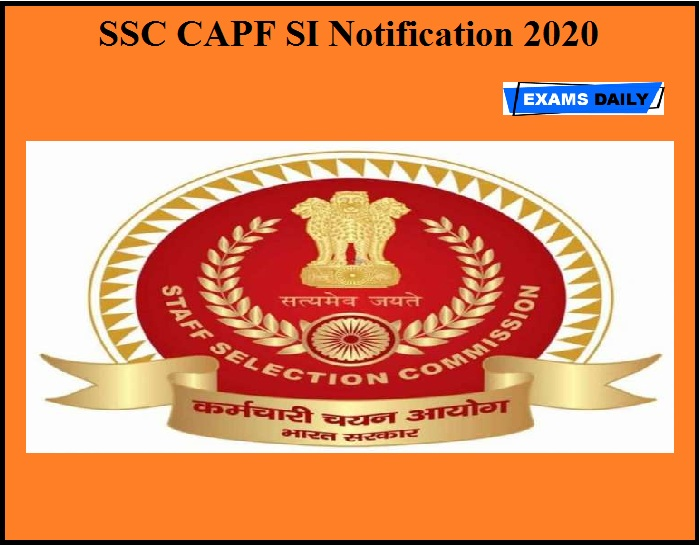 SSC Notification 2020 OUT
