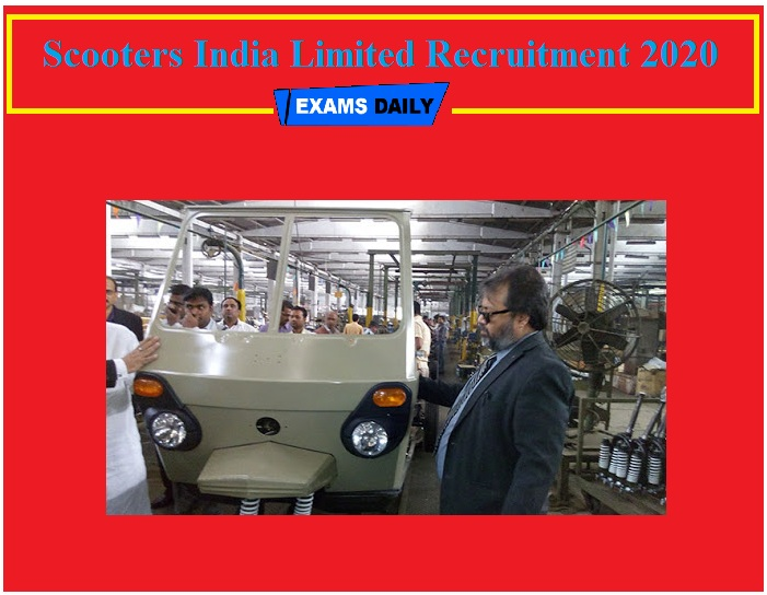 Scooters India Limited Recruitment 2020