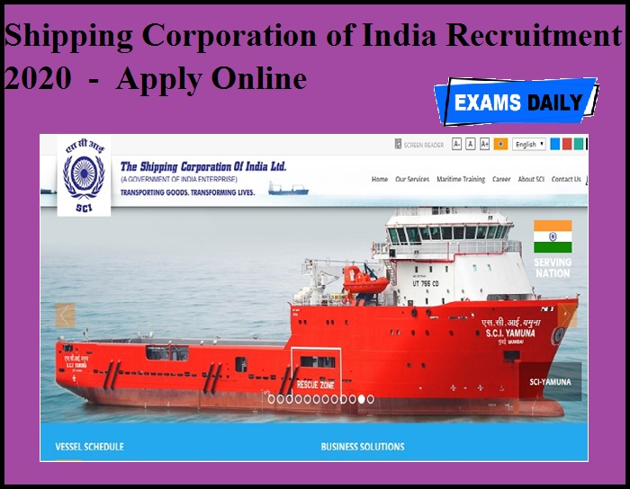 Shipping Corporation of India Recruitment 2020 OUT - Apply Online