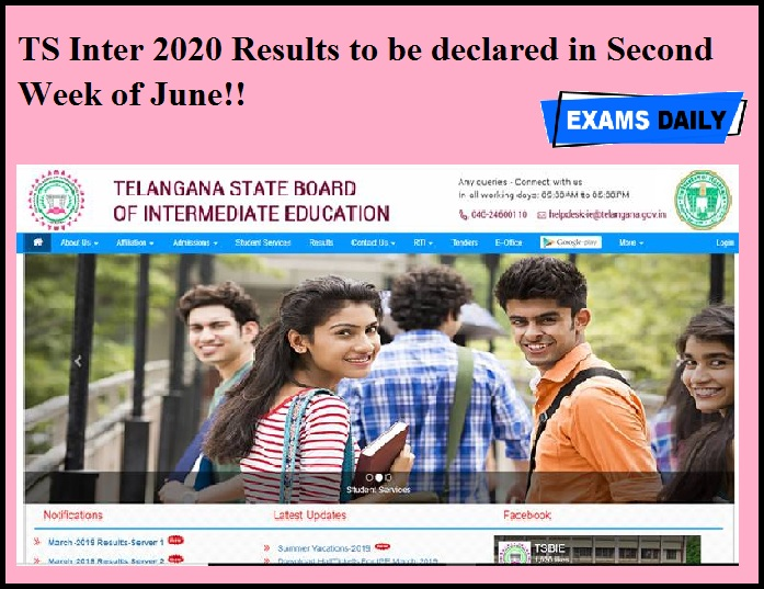 TS Inter 2020 Results to be declared in Second Week of June!!