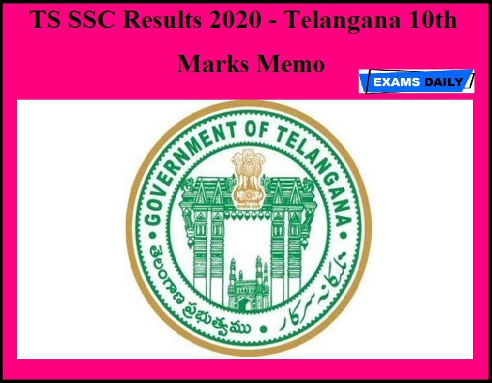 TS SSC Results 2020 - Telangana 10th Marks Memo Released