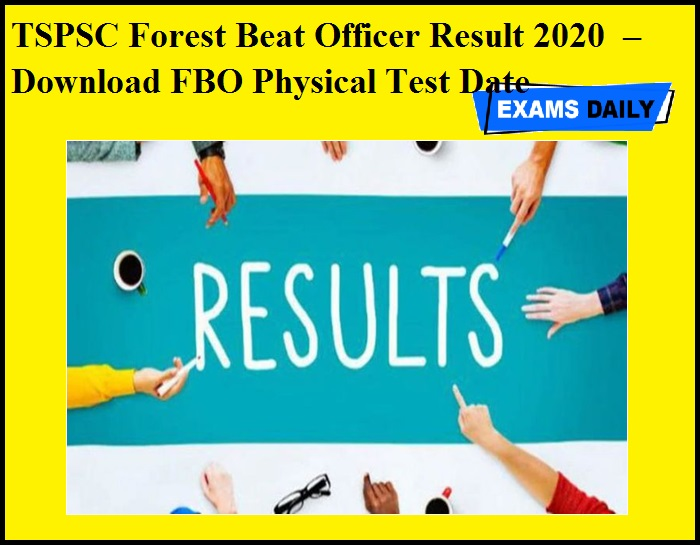 TSPSC Forest Beat Officer Result 2020 OUT – Download FBO Physical Test Date