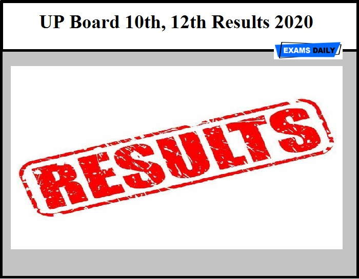 UP Board 10th, 12th Results 2020