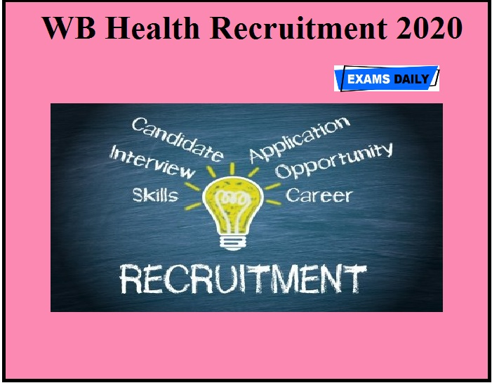 WB Health Recruitment 2020 OUT