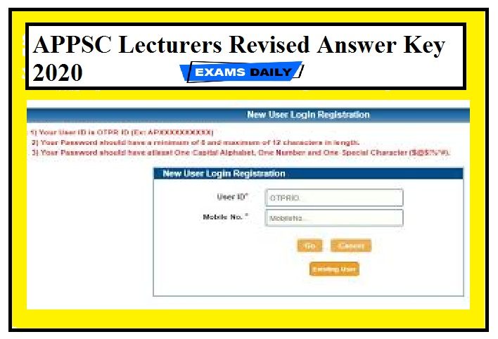 APPSC Lecturers Revised Answer Key 2020