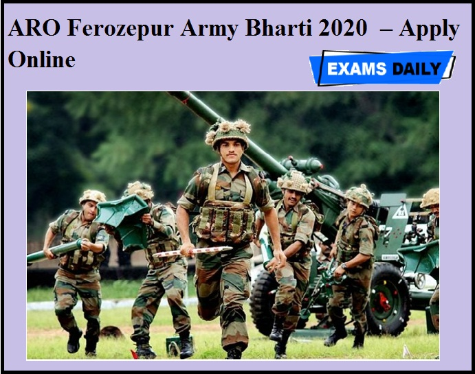 ARO Ferozepur Army Bharti 2020 OUT – Apply Online
