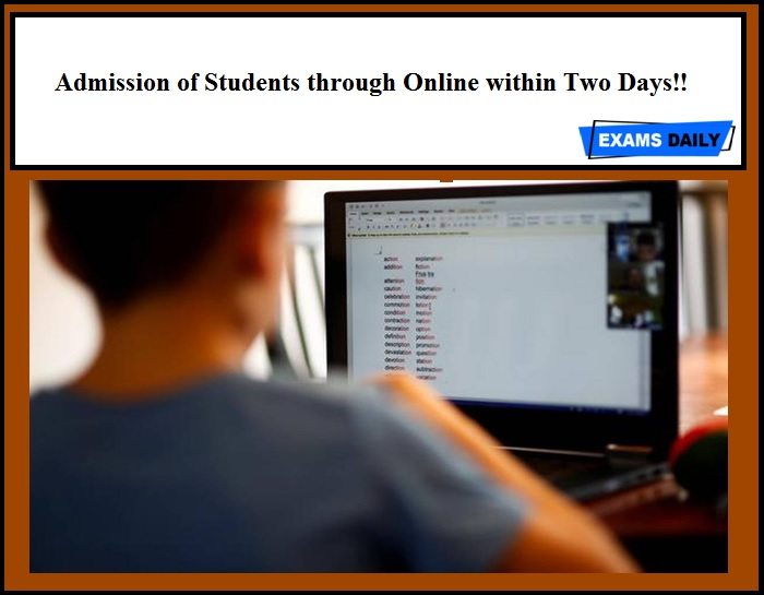 Admission of Students through Online within Two Days!! Minister of Higher Education