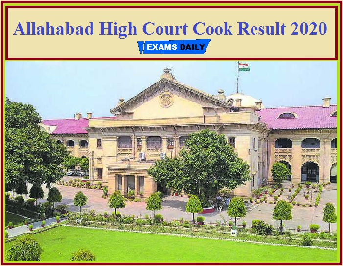 Allahabad High Court Cook Result 2020