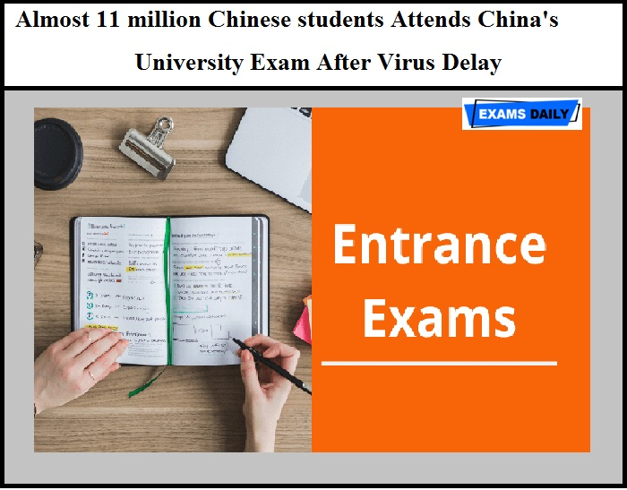 Chinese students Attend China's University Exam after Virus Delay