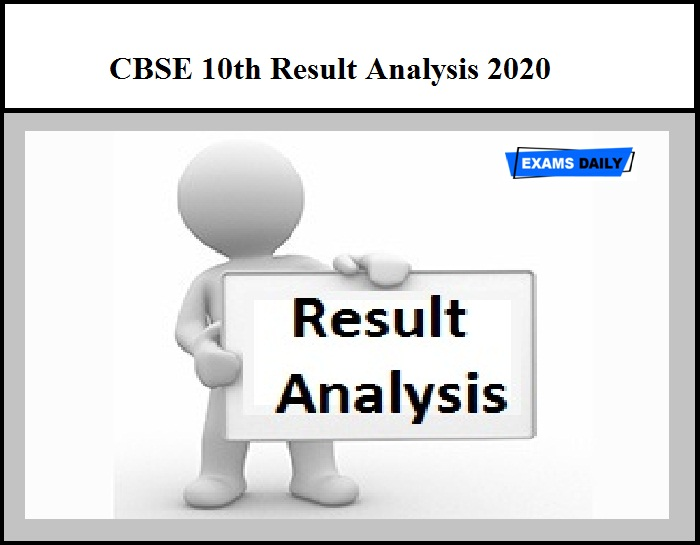 CBSE 10th Result Analysis 2020 – Check Class 10 Result Details Here