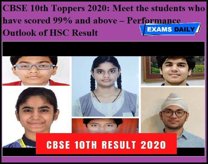 CBSE 10th Toppers 2020 - Meet the students who have scored 99 percent and above – Performance Outlook of HSC Result