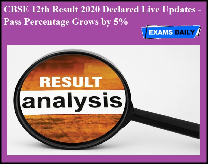 CBSE 12th Result 2020 Declared Live Updates - Pass Percentage Grows by 5%