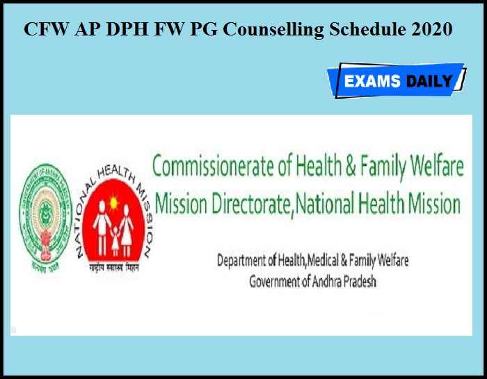 CFW AP DPH FW PG Counselling Schedule 2020 OUT