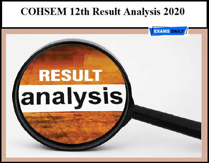 COHSEM 12th Result Analysis 2020 – Download Manipur Class 12 Result Details