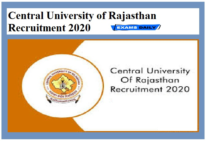 Central University of Rajasthan Recruitment 2020 (1)