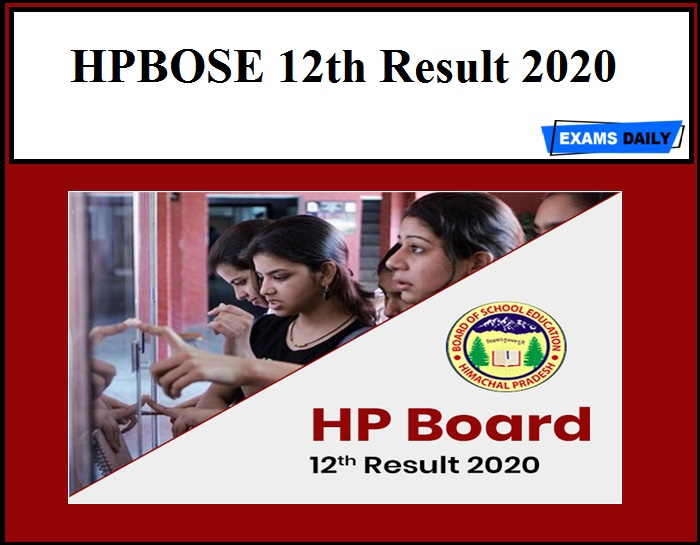 HPBOSE 12th Result 2020