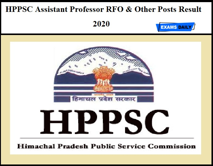 HPPSC Assistant Professor Result 2020 OUT – Download Selection List for RFO & Other Posts
