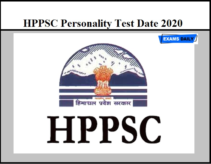 HPPSC Personality Test Date 2020