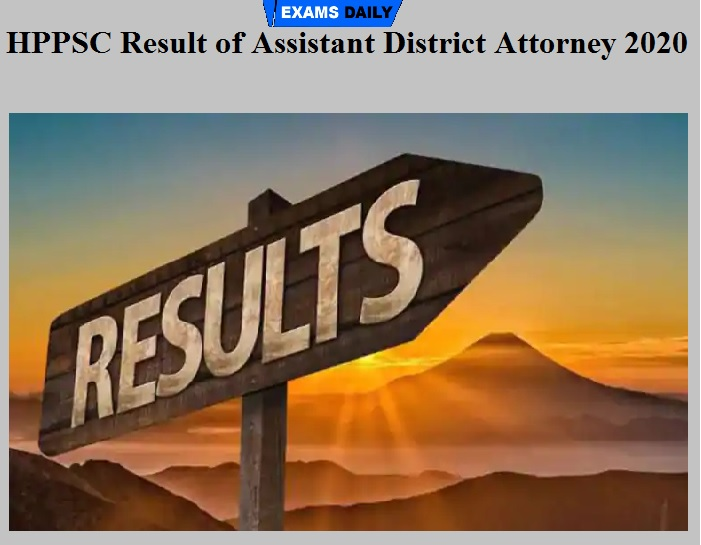 HPPSC Result of Assistant District Attorney 2020