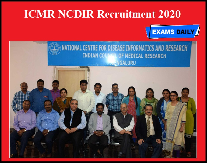 ICMR NCDIR Recruitment 2020 OUT