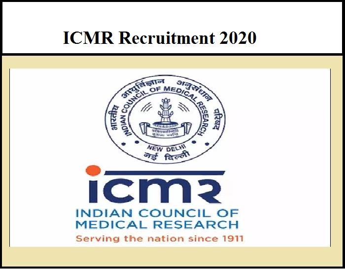 ICMR Recruitment 2020 Out – Consultant Vacancy