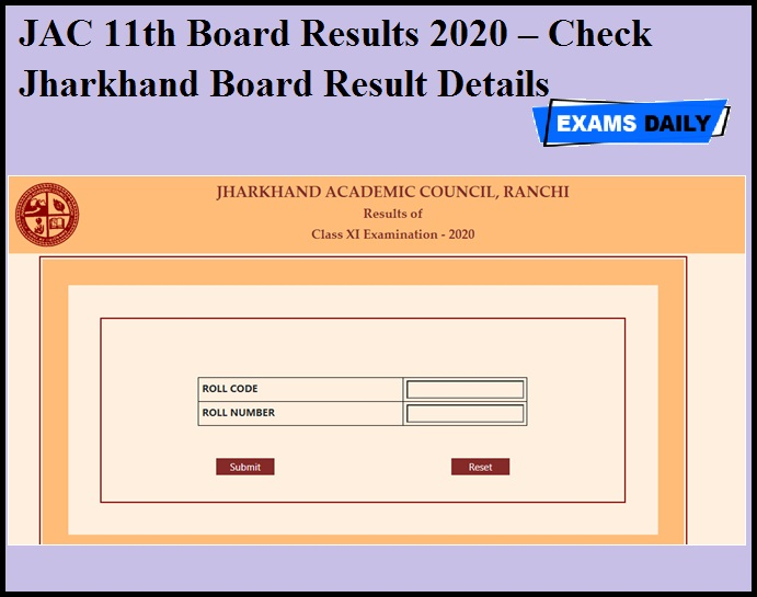 JAC 11th Board Results 2020 – Check Jharkhand Board Result Details