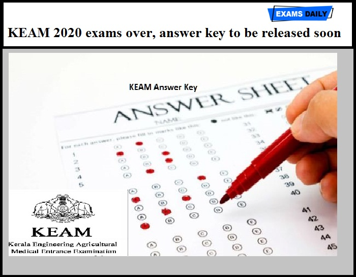 KEAM 2020 exams over, answer key to be released soon