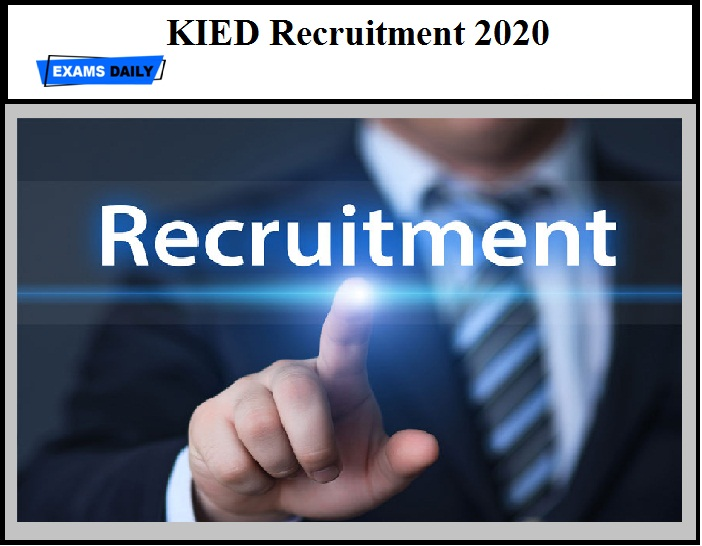 KIED Recruitment 2020 OUT - Program Manager & Other Vacancies