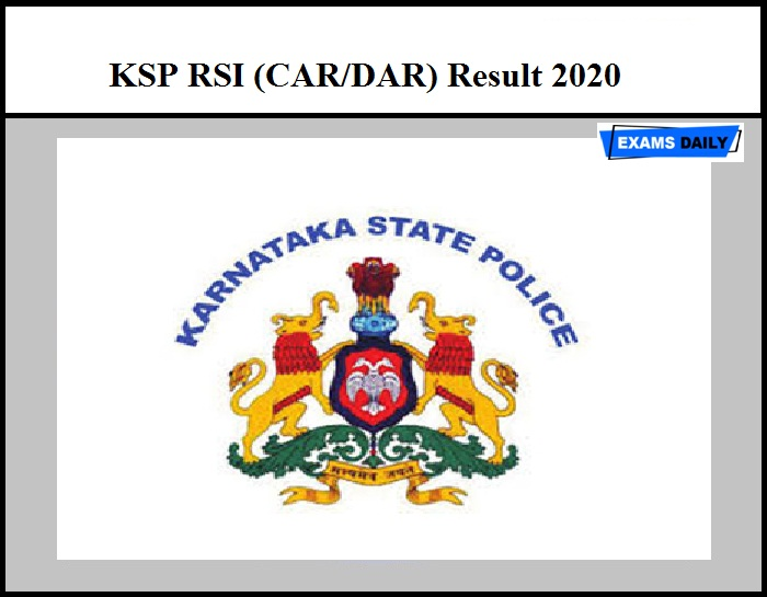 KSP RSI (CAR DAR) Result 2020 Out – Download Provisional Selection List Here