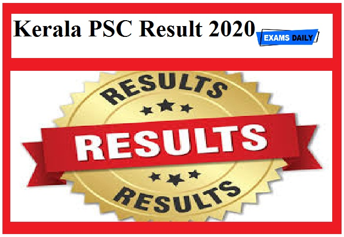 Kerala PSC Result 2020 out