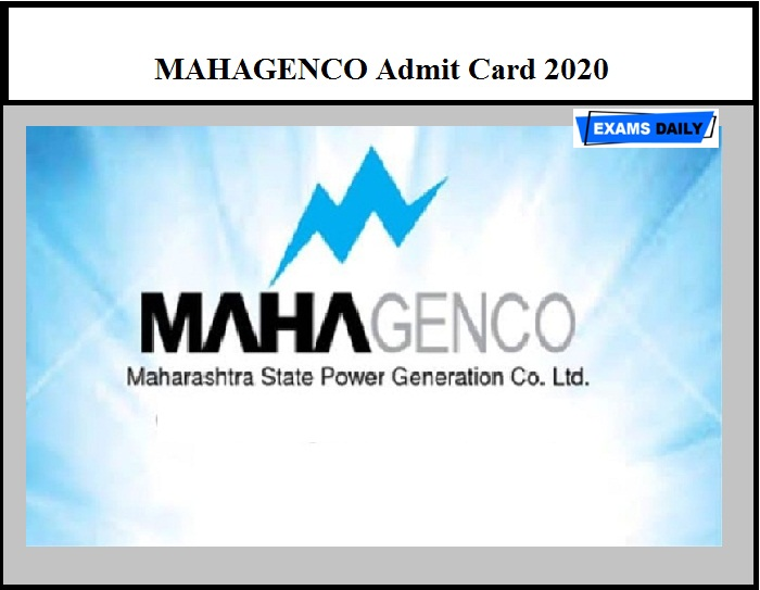 MAHAGENCO Admit Card 2020 – Check Hall Ticket Details for Assistant Engineer & Other Post